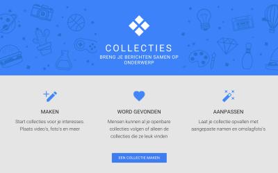 Nieuw in Google+: Collecties